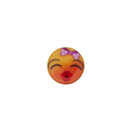 Bouton smiley fille