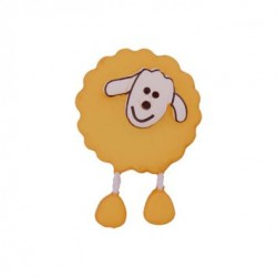 Bouton Mouton jaune foncé