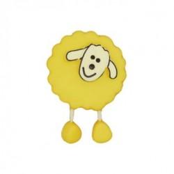 Bouton Mouton jaune