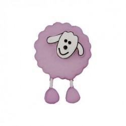 Bouton Mouton violet