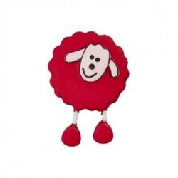 Bouton Mouton rouge framboise
