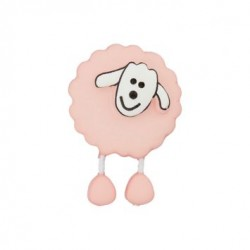 Bouton Mouton rose pâle