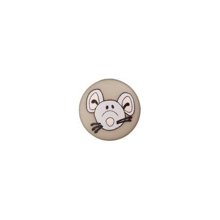 Bouton souris 12 mm gris