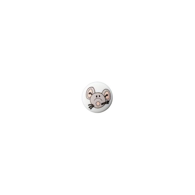 Bouton souris 12 mm blanc