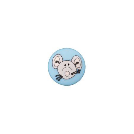 Bouton souris 12 mm bleu clair