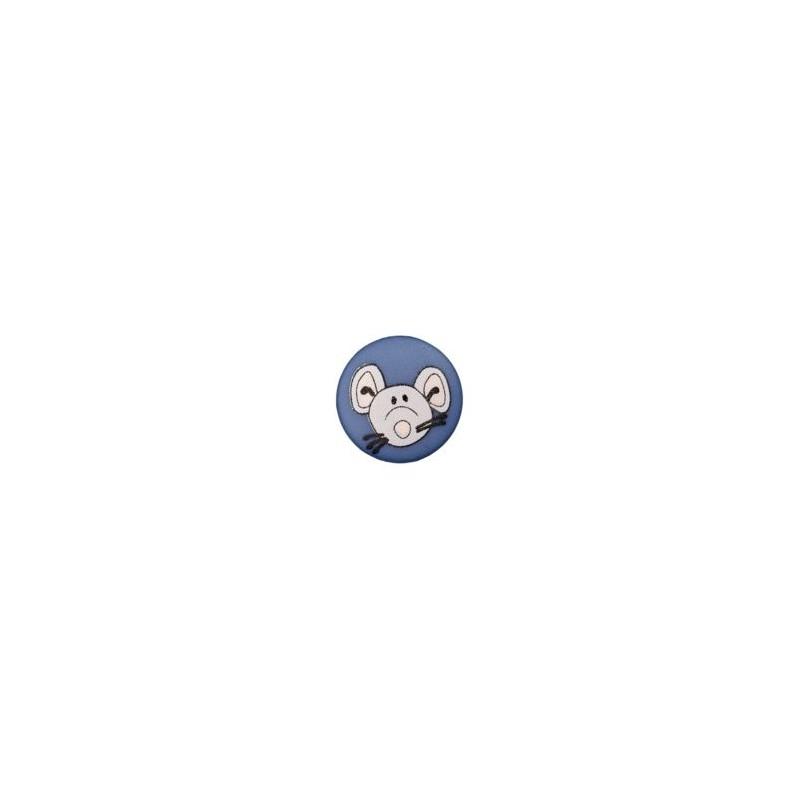 Bouton souris 12 mm bleu foncé