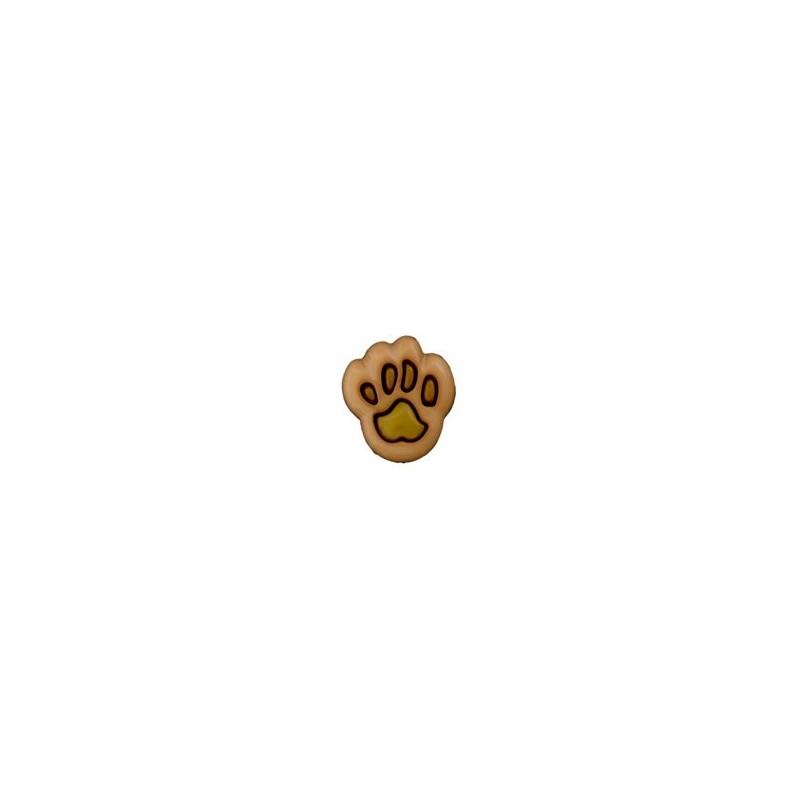 Bouton patte d'ours 12 mm beige / kaki