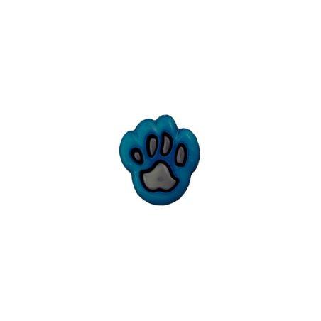 Bouton patte d'ours 12 mm bleu / noir
