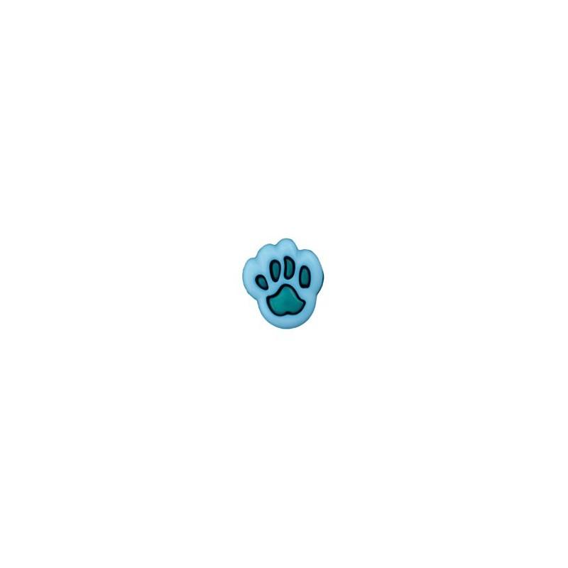 Bouton patte d'ours 12 mm bleu / vert