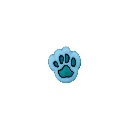 Bouton patte d'ours 12 mm bleu - vert