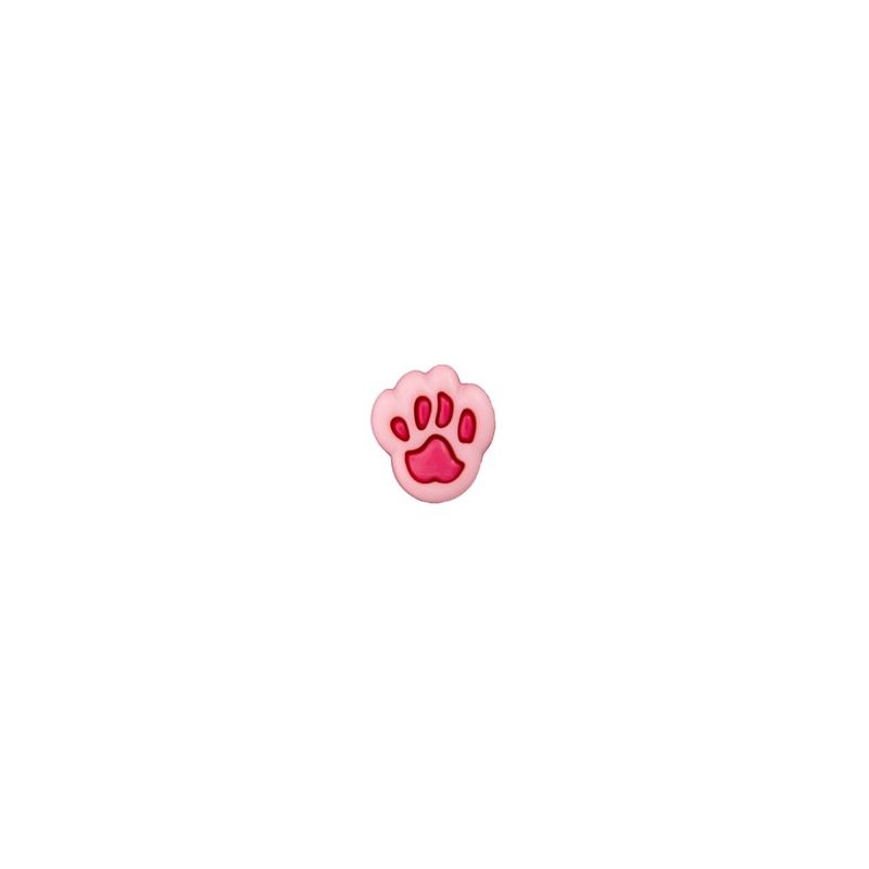 Bouton patte d'ours 12 mm rose / fuchsia