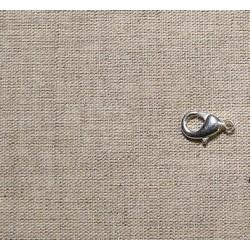 Lot de 5 fermoirs mousqueton argent 12 mm