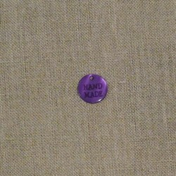 Tag Hand made violet