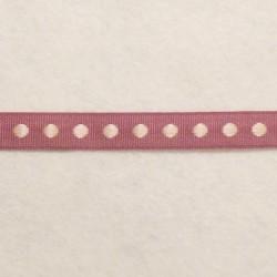 Ruban violet à pois rose pâle