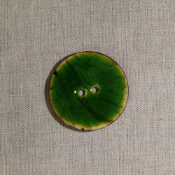 Bouton en noix de coco vert