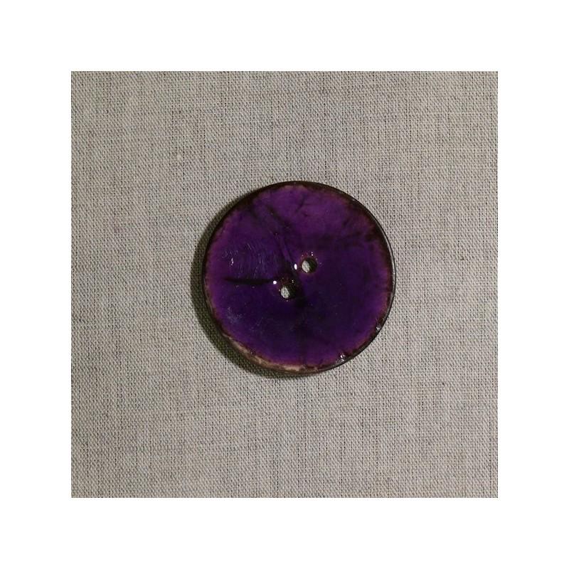 Bouton en noix de coco violet