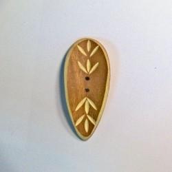 Bouton  bambou beige naturel