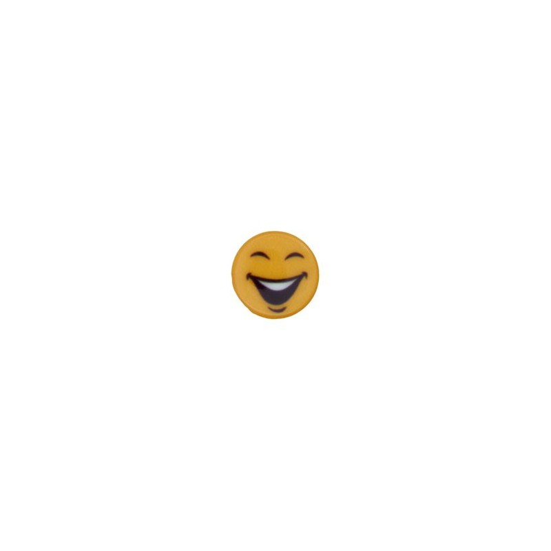 Bouton smiley rire
