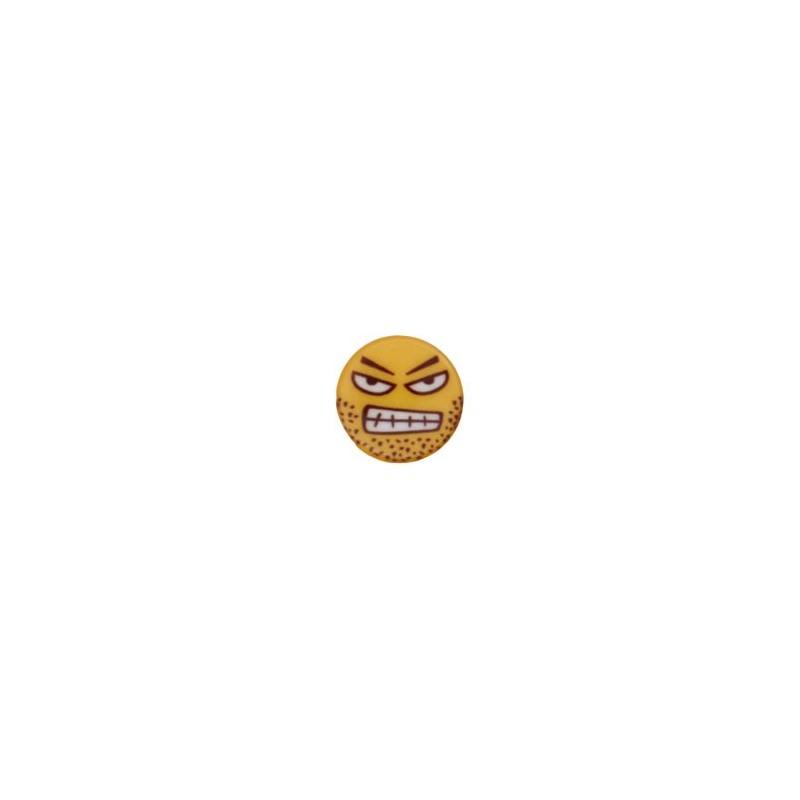 Bouton smiley en colère