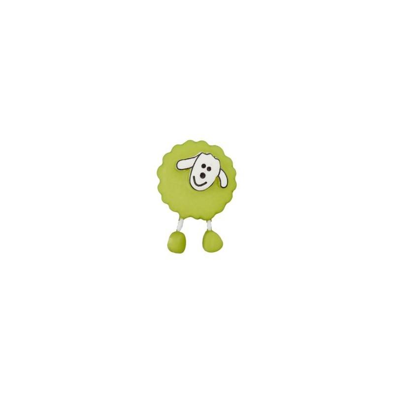 Bouton Mouton vert amande