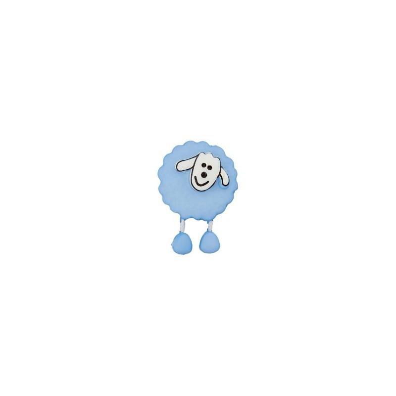 Bouton Mouton bleu ciel