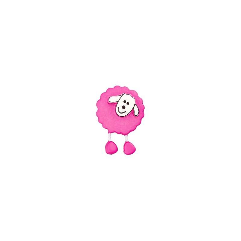 Bouton Mouton rose vif