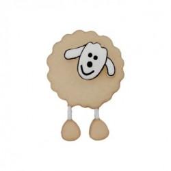 Bouton  Mouton beige