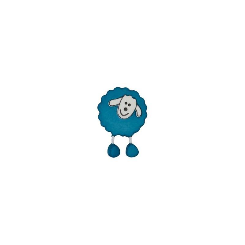 Bouton Mouton bleu outremer