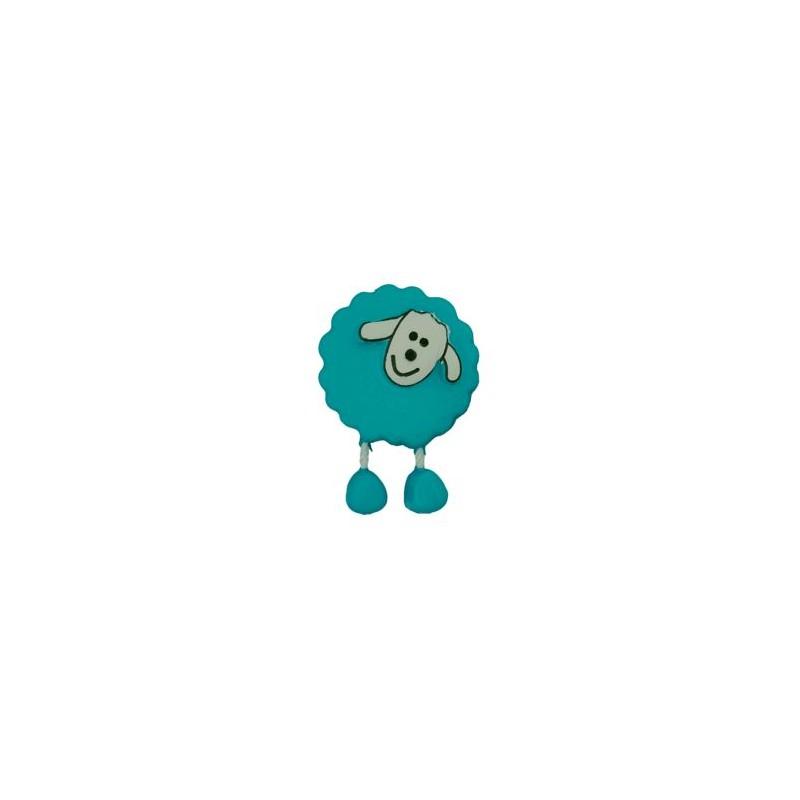 Bouton Mouton turquoise
