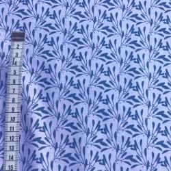 Tissu blanc branches bleues
