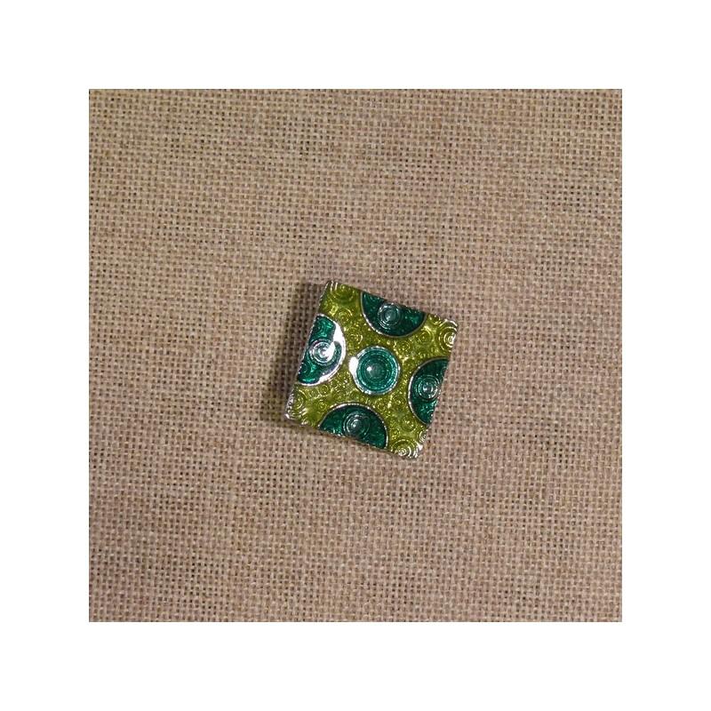 Bouton bijou vert