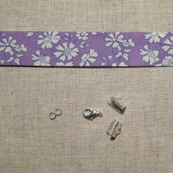 Kit bracelet Liberty Capel violet