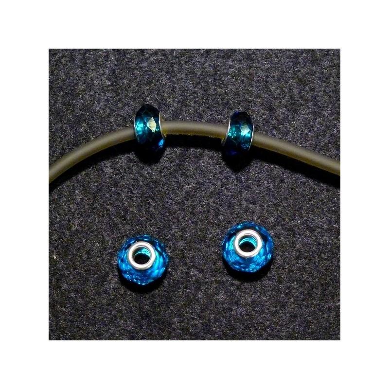 Perles en verre turquoise