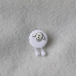 Bouton Mouton blanc